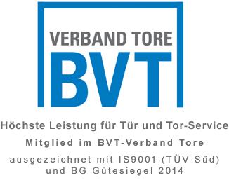 KFK ist Mitglied beim BVT Verband Tore